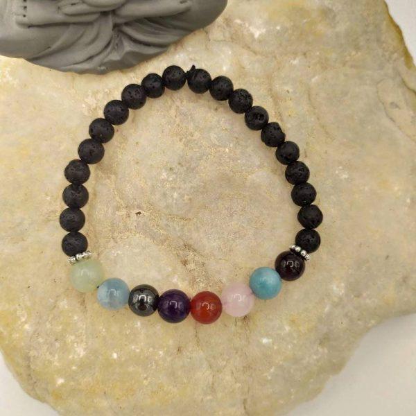 Bracelet Chemin de Vie avec Perles en Lave